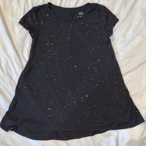 Justice Girls flowing shirt - sparkly glittery